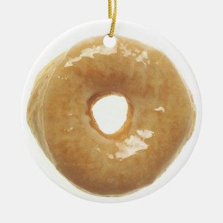Donut Raised Glazed Ceramic Ornament