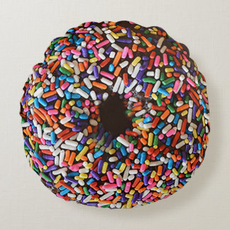 Donut Sprinkles Chocolate Icing Pillow