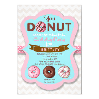 Donut Sweet Birthday Party Invitation