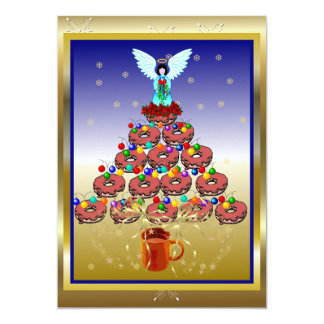 Donut Tree 13 Cm X 18 Cm Invitation Card