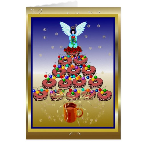 Donut Tree Greeting Card