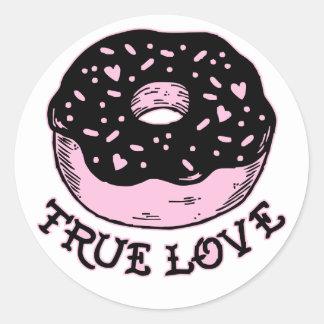 Donut True Love Classic Round Sticker