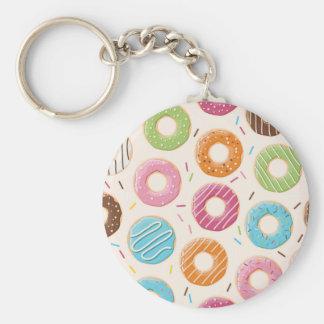 """Donuts 2.25"""" Basic Button Keychain"""