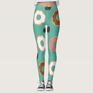 Donuts and Coffee Beans Leggings