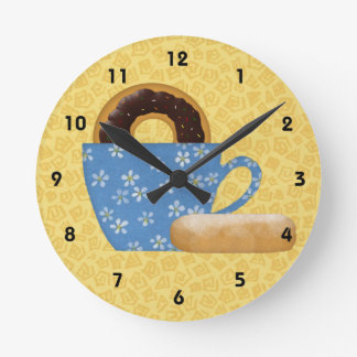 Donuts And Coffee Wall Clock