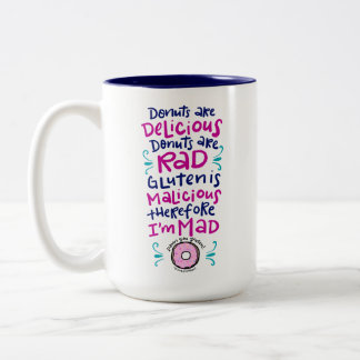 Donuts Are Delicious Two-Tone Coffee Mug