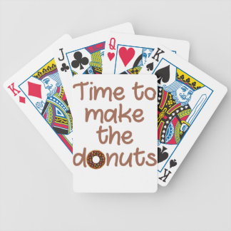 donuts bicycle playing cards