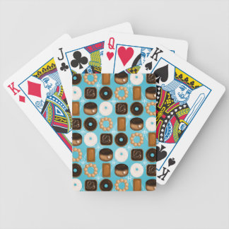 Donuts Blue Bicycle Playing Cards