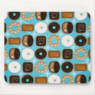 Donuts Blue Mouse Pad