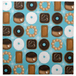 Donuts Blue Napkin