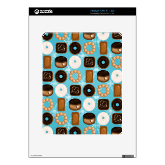 Donuts Blue Skin For iPad