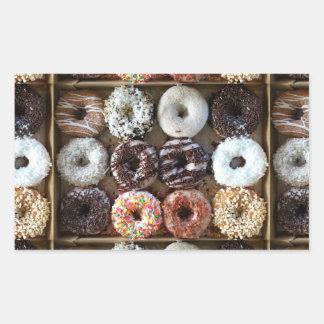 Donuts by the Dozen Photo Rectangular Sticker