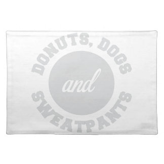 Donuts Dogs Sweatpants Placemat