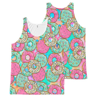 Donuts Galore All-Over Print Singlet