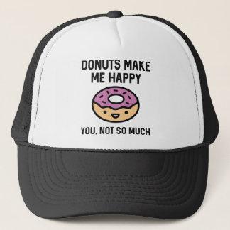 Donuts Make Me Happy Trucker Hat