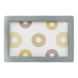 Donuts pattern - brown and beige. belt buckle