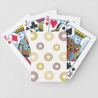 Donuts pattern - brown and beige. bicycle playing cards