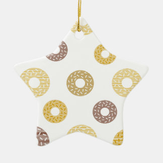 Donuts pattern - brown and beige. ceramic ornament