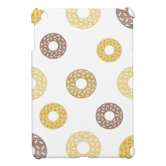 Donuts pattern - brown and beige. iPad mini cover