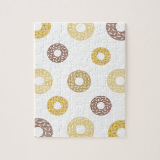 Donuts pattern - brown and beige. jigsaw puzzle