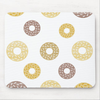 Donuts pattern - brown and beige. mouse pad