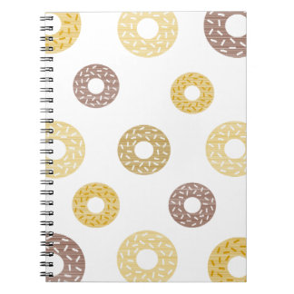 Donuts pattern - brown and beige. notebook