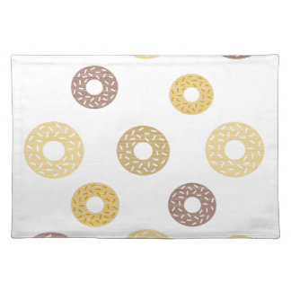 Donuts pattern - brown and beige. placemat