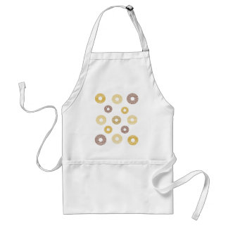 Donuts pattern - brown and beige. standard apron