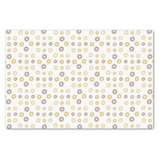 Donuts pattern - brown and beige. tissue paper