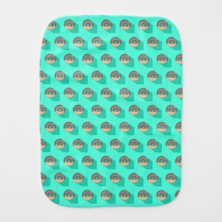 Donuts Pattern Burp Cloth