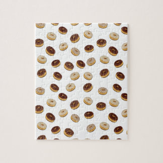 Donuts pattern jigsaw puzzle