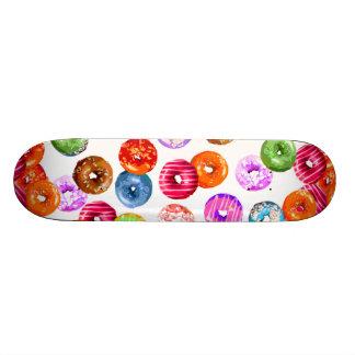 Donuts seamless pattern + your backgr. & ideas 21.6 cm skateboard deck