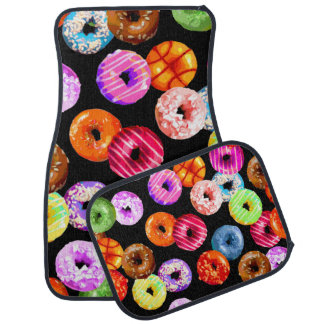 Donuts seamless pattern + your backgr. & ideas floor mat