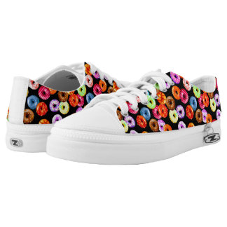 Donuts seamless pattern + your backgr. & ideas printed shoes