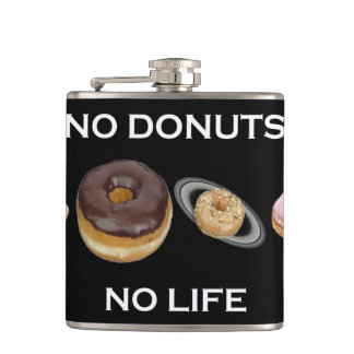 Donuts solar system hip flask