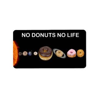 Donuts solar system label