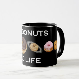 Donuts solar system mug