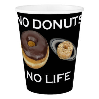 Donuts solar system paper cup