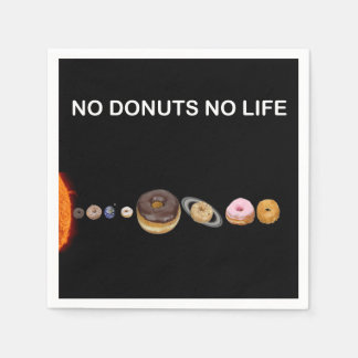 Donuts solar system paper serviettes