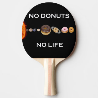 Donuts solar system ping pong paddle