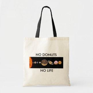 Donuts solar system tote bag