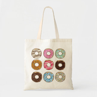 Donuts sweets yummy colorful tote bag