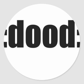 dood poop view weird desire lame unknown abstract classic round sticker