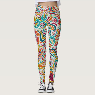 Doodle abstract leggings
