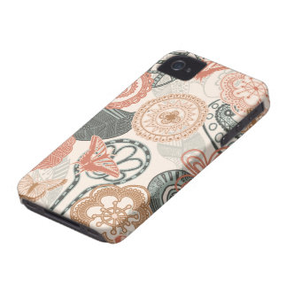 doodle and butterflies iPhone 4 Case-Mate case