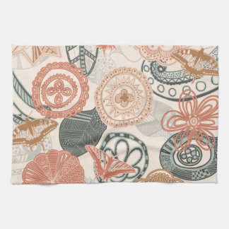 doodle and butterflies towel