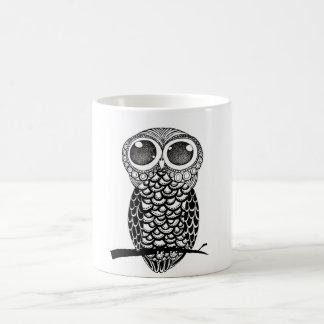 Doodle art owl coffee mug