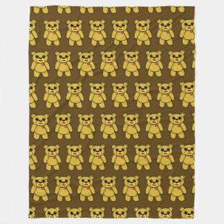 Doodle Bear Brown TP Fleece Blanket