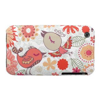 doodle birds Case-Mate iPhone 3 case