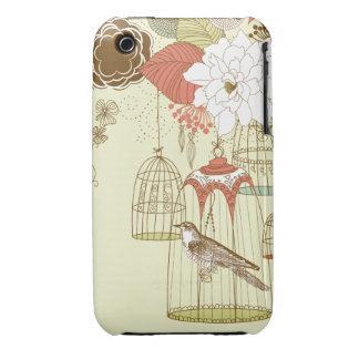 doodle birds Case-Mate iPhone 3 cases